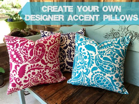 make your own throw pillows just a creativity create your own designer accent