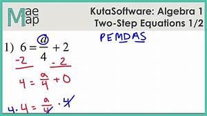 Kutasoftware  Algebra 1 - Two-step Equations Part 1