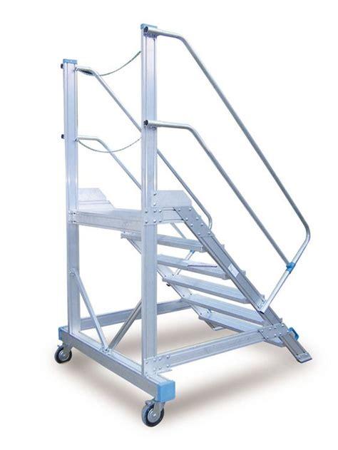 Zcjb Tabouret D échelle Escaliers Passerelle En Aluminium Avec Plateformes Et Escaliers