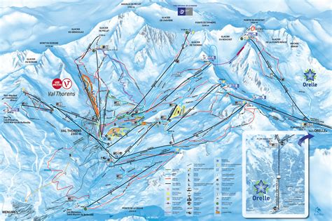 val thorens trail map onthesnow