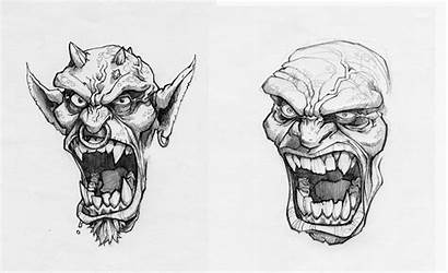 Ugly Faces Pencil Really 2006 Drawings Smile