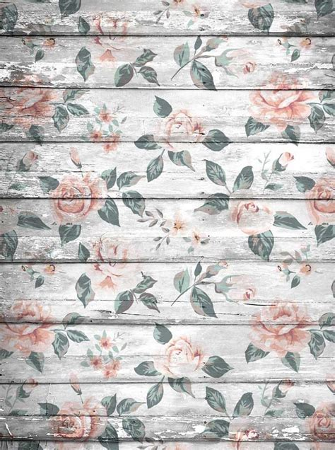 white floral wood backdrop floor drop rustic background