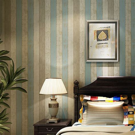 vintage country wood texture stripes  woven wallpaper