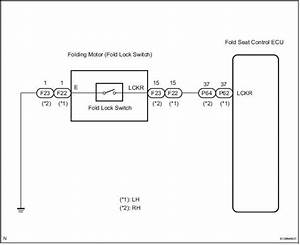 Toyota Sienna Service Manual  Fold Lock Switch Circuit