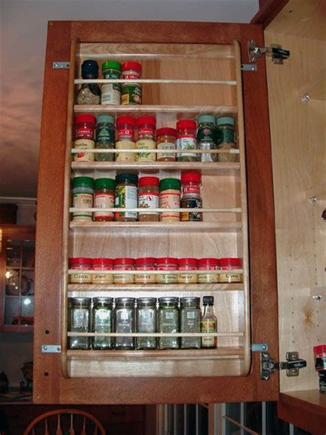 Inside Cupboard Spice Rack by Spice Rack Cupboard Door Organize Cabinets