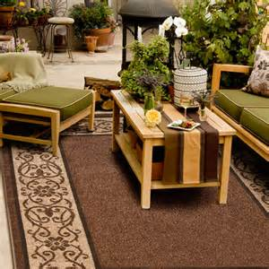 outdoor iron floral area indoor outdoor rug 6 5 quot x 9 8