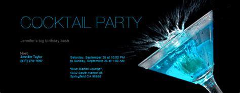 Free Cocktail Party Invitations & Rsvp Tracking Evitecom