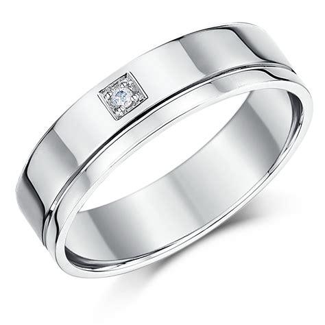 6mm 18ct white gold flat court wedding ring 18ct white gold at elma uk jewellery