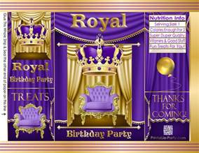 royal blue and gold baby shower printable chip bags diy potato chip bags party favor