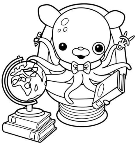 Mickey Mouse Halloween Stencil by Print Amp Download Octonauts Professor Inkling Coloring