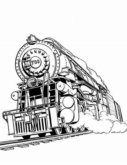 Train Steam Coloring Railroad Pages Colouring Awesome