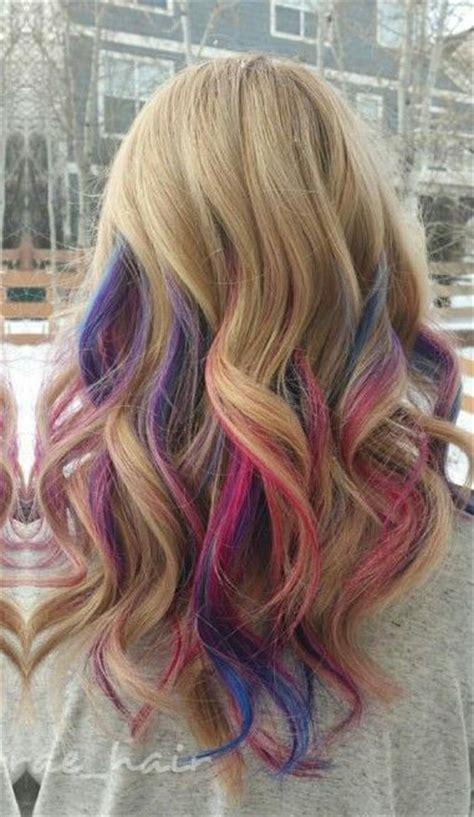 Blonde Pink Purple Streak Dyed Hair Taylorraehair In