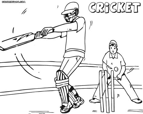 cricket game coloring pages coloring pages