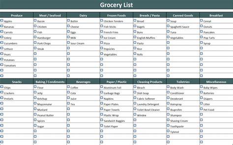 shopping list template 7 shopping list templates office templates