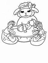 Coloring Lamb Chop Cartoons Face Coloringpages101 sketch template