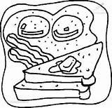 Toast Coloring Food Kleurplaten Eten Drinks Pages Fun Kleurplaat Zo Kb Viewed 1001coloringpages sketch template