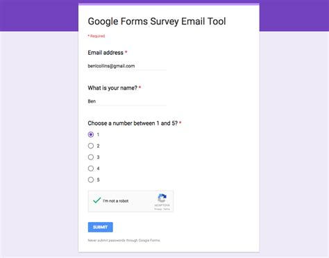 google google forms reply to google forms survey respondents direct from