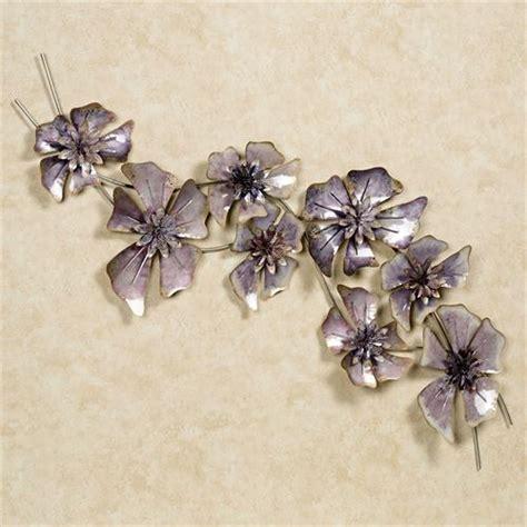 Purple Floral Waltz Metal Wall Sculpture