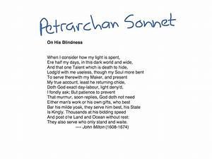 Elizabethan Sonnet Example