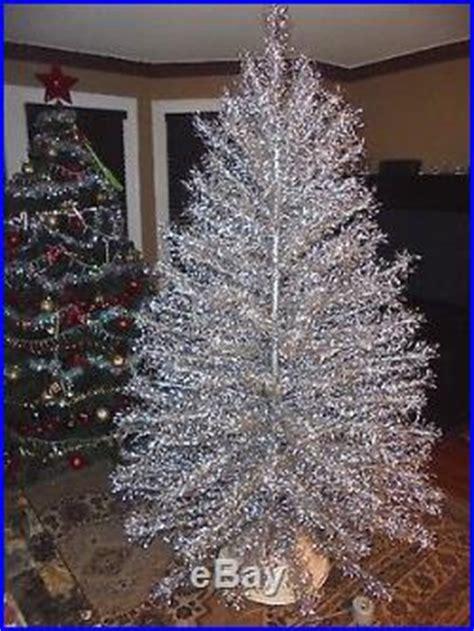 aluminum christmas trees for ssle mi wonderful big 7ft vtg original starlite silver aluminum tree no stand