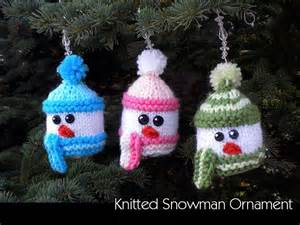 knitted snowman ornaments by auntjanet craftsy