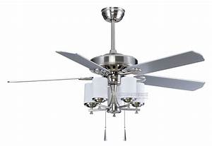 Silver Ceiling Fans  U2013 Lighting And Ceiling Fans