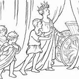 Ancient Rome Coloring Chariot Apollo Sun Pages Template Vardo History Story Netart sketch template