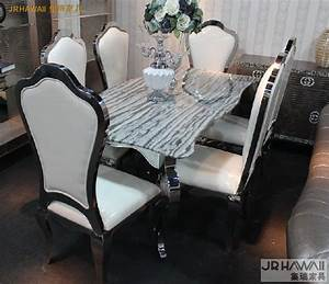 Stainless Steel Dinning Table With Dining Room Set With 6