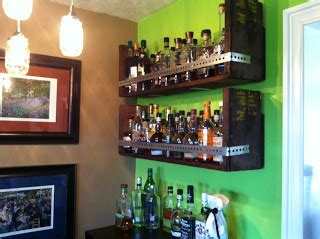 Bar Shelves by Americanwhiskey Custom Bar Shelves From 80 Year Crate