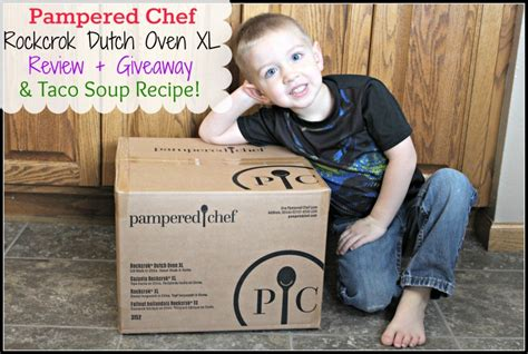 pampered chef rockcrok dutch oven xl taco soup recipe giveaway continental