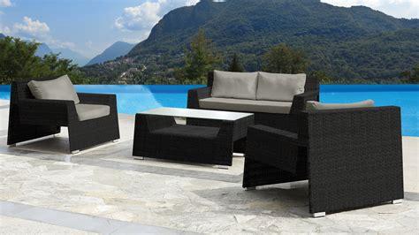 salon de jardin noir resine tressee salon de jardin les 3 suisses qaland