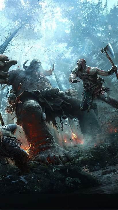 God War Kratos Pantalla Fondos Wallpapers Para