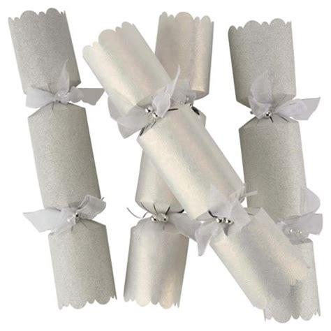 buy tesco luxury silver white christmas crackers 6 pack