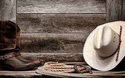 Cowboy Boots Hat Wood Rope Western Background