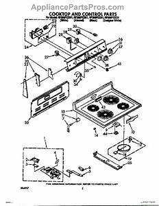 Parts For Whirlpool Rf366pxxq1  Cooktop And Control Parts