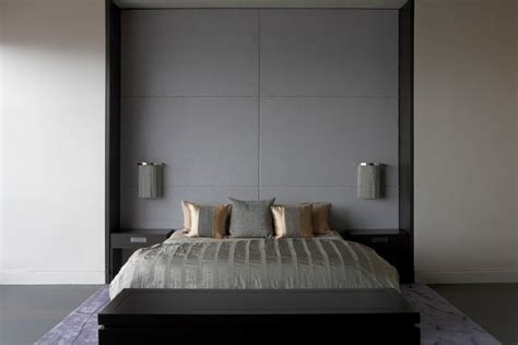 headboard attached to wall bed frame with wall mounted panels contemporary