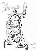 Shredder Splinter Master Drawing Ninja Turtles Drawings Mutant Teenage Comic Getdrawings Nerdy sketch template