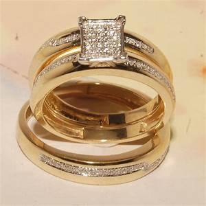 Cheap wedding rings sets for him and her for Wedding ring sets for her