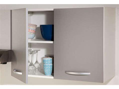 meuble haut cuisine conforama meuble haut 80 cm 2 portes spoon color coloris gris