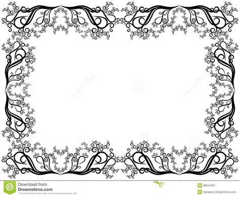 cadre noir et blanc avec les 233 l 233 ments floraux photographie stock libre de droits image 38441857