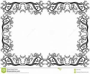 Cadre Deco Noir Et Blanc : cadre noir et blanc avec les l ments floraux illustration de vecteur illustration du page ~ Melissatoandfro.com Idées de Décoration