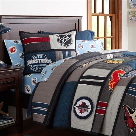 Nhl Bedding Sets by Nhl 174 Patchwork Quilt Sham Pbteen