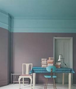 Graue Wand Wohnzimmer : wand zweifarbig grau t rkis colors pinterest schicke moderne farbgestaltung pastell ~ Indierocktalk.com Haus und Dekorationen