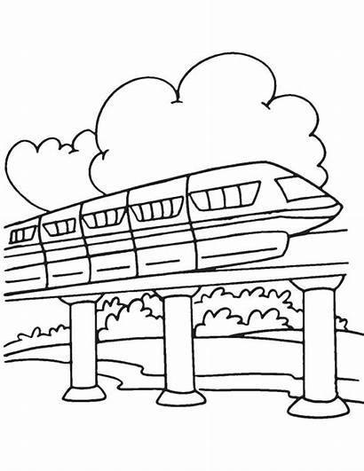 Monorail Coloring Behind Cloud Pages