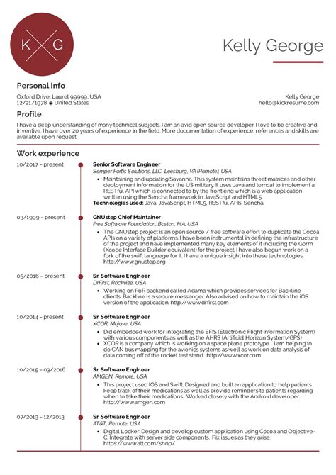 Software Engineer Resume Sles by Resume Exles By Real Senior Software Engineer