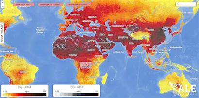 Pollution Air Fine Particle Map Global Database