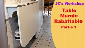 comment faire une table de cuisine murale rabattable 1 2 With table a manger escamotable