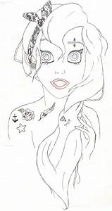 Punk Emo Ariel Coloring Pages | Coloring Pics | Pinterest ...