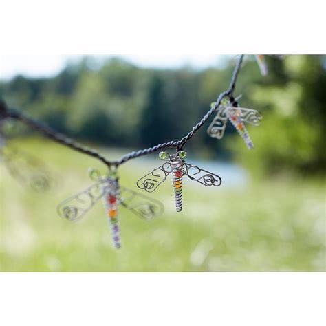 smart solar 20 light led multi color butterfly string