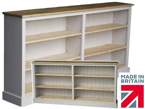 6 Ft Wide Bookcase by Low White Painted Bookcase 6ft Wide Adjustable Display